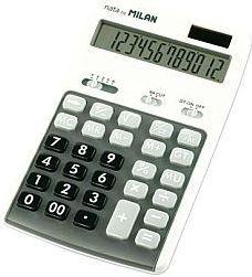 Kalkulator Milan Kalkulator 12 pozycyjny szary - WIKR-958511