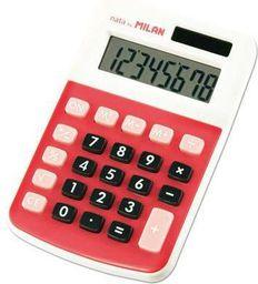 Kalkulator Milan Kalkulator 8-pozycyjny czerwony - WIKR-954283