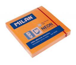 Blok biurowy Milan Karteczki neonowe 75x75 mm pomarańczowe
