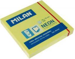 Blok biurowy Milan Karteczki neonowe 75x75 mm żółte