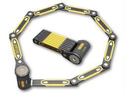 ONGUARD Zapięcie rowerowe Heavy Duty Link Plate Lock K9 składane 8114 100cm 5 kluczy z kodem (ONG-8114)