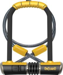 ONGUARD Zapięcie rowerowe Combo DT 8012C U-Lock 115x230 mm czarno-żółte(ONG-8012C)