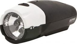 SPANNINGA Lampka przednia GOMA XB + baterie czarno-biała (SNG-999065)