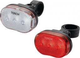 TORCH Zestaw lampki CYCLE LIGHT SET WHITE BRIGHT 3 + TAIL BRIGHT 3 (TOR-54034)