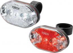 TORCH Zestaw lampki CYCLE LIGHT SET WHITE BRIGHT 9X + TAIL BRIGHT 9X (TOR-54035)