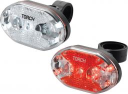 TORCH Zestaw lampki CYCLE LIGHT SET WHITE BRIGHT 5X + TAIL BRIGHT 5X (TOR-54039)