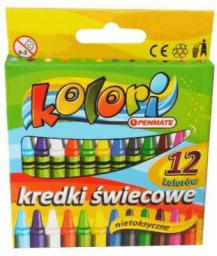 Penmate Kredki Ĺ›wiecowe 12 kolorĂłw Kolori