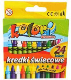 Penmate Kredki Ĺ›wiecowe 24 kolory Kolori