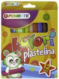 Penmate Plastelina 12 kolorów