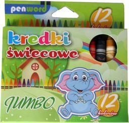 Penword Kredki Ĺ›wiecowe 12 kolorĂłw Jumbo