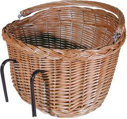 FASTRIDER Kosz rowerowy na kierownicę wiklinowy Oval LArge brązowy