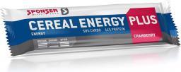 Sponser Baton energetyczny CEREAL ENERGY PLUS BAR żurawinowy pudełko (15szt x 40g) (SPN-90-096)