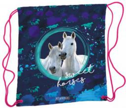 Starpak Worek szkolny Horses STK-00 Girl granatowy (372847)