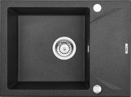 Deante Zlewozmywak 1-komorowy Evora z ociekaczem 44 x 59cm grafitowy metalik (ZQJ G11A)