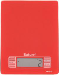 Waga kuchenna Saturn Red (ST-KS7235)