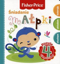 Olesiejuk Fisher Price Puzzle. Śniadanie małpki