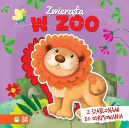 Książka z szablonem. Zwierzęta w zoo (232599)