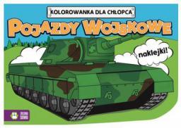 Kolorowanki dla chłopców. Pojazdy wojskowe (230897)