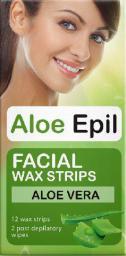 Elfa Pharm Aloe Epil Plastry woskowe do depilacji twarzy 12szt