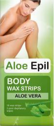 Elfa Pharm Aloe Epil Plastry woskowe do depilacji ciała 16szt