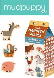 Mudpuppy Zestaw drewnianych magnesów Na farmie 40 elementów (MP33482)