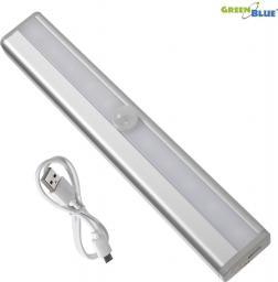 GreenBlue Lampa LED z czujnikiem pir do kuchni, garderoby, akumulator, USB (GB119)
