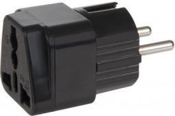 Maclean Adapter podróżny gniazdo UK na EU czarny (MCE155)