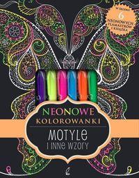 Neonowa kolorowanka. Motyle i inne wzory - 223078