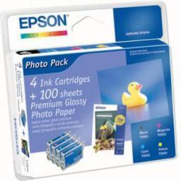 Epson tusz T0556 Multipak 4-kolorowy + papier foto