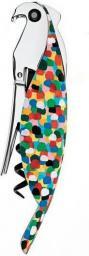 Alessi Korkociąg do butelek z aluminium, kolorowa papuga (AAM32 1)