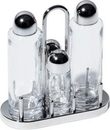 Alessi Zestaw do soli, oliwy i pieprzu ze stali nierdzewnej i kryształu (5070)