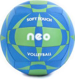 Spokey Piłka siatkowa Neo Soft niebiesko-zielona r. 5 (838553)