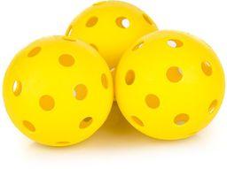 Spokey Piłeczki do unihokeja Turn żółte (85654)