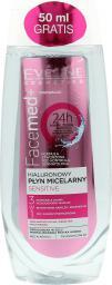Eveline Facemed+ Hialuronowy Płyn micelarny 3w1  Sensitive  250ml