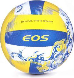 Spokey Piłka do siatkówki Eos 5 niebiesko-żółto-biały (837387)