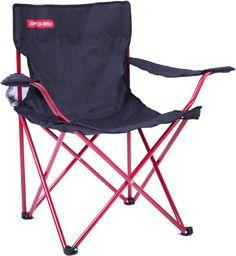 Spokey Krzesło turystyczne składane Angler czarno-czerwony (839630)