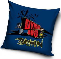 CARBOTEX Poszewka bawełniana 40x40 Batman Napis (BAT8004)