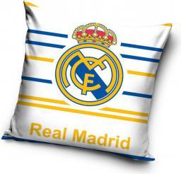 Carbotex Poszewka bawełniana 40x40 Real Madrid Biała (RM8007)