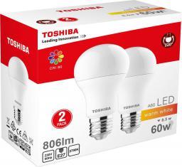 Toshiba LED A60 duo pack 8.5W, 806lm, 2700K, 80Ra, E27 (00101315130A)