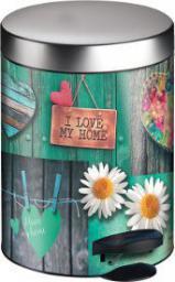 Kosz na śmieci Meliconi na pedał 5L I Love My Home (14005534701BA)