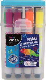 Derform Pisaki ze stampelkami w pudełku 12 kol. Kidea - DERF.PSP12KA