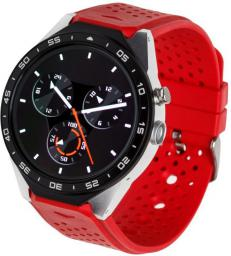 Smartwatch Garett Electronics Expert Srebrno-czerwony  (Expert srebrno/czerwony)