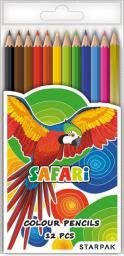 Starpak Kredki 12kol trójkątne Safari + sre/zło (375565)