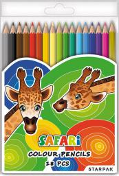 Starpak Kredki 18kol trójkątne Safari + sre/zło (352975)