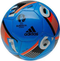 Adidas Piłka nożna EURO 2016 GLIDER BALL niebieska r. 5 (AZ1645)
