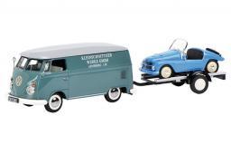 SCHUCO Volkswagen T1c Box Van Kleinschnittger with Trailer and Kleinschnittger F125 (GXP-591808)
