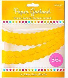 AMSCAN girlanda papierowa 3,6 m żółta (WIKR-986239)