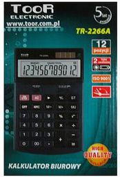 Kalkulator Toor Electronic Kalkulator TR-2266A - WIKR-977404