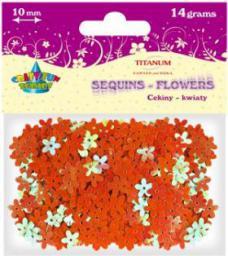 Titanum Cekiny kwiaty 10mm Pomarańczowe (WIKR-924496)