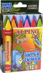 Alpino Kredki woskowe Super Jumbo Tropic